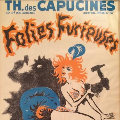 affiche Folies Furieuses / théâtre des Capucines / cocktail