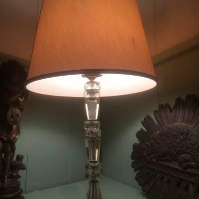 lampe pied en verre ancien