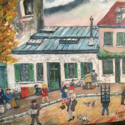ANATOLE art brut et naïf Bateau Lavoir Montmartre