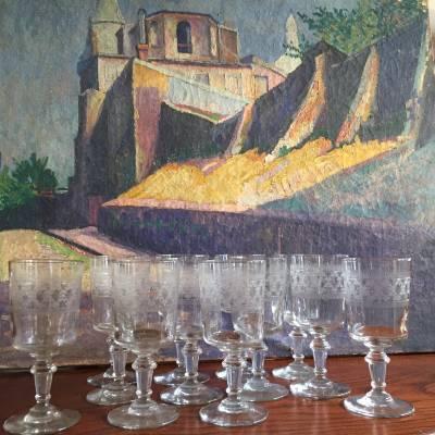 douze verres soufflés