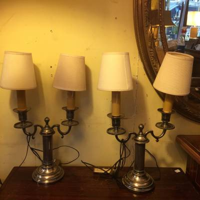 paire lampes chandeliers