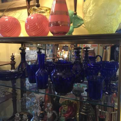 bristol blue glass antique