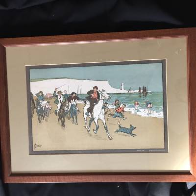 lithographie anglaise cheval