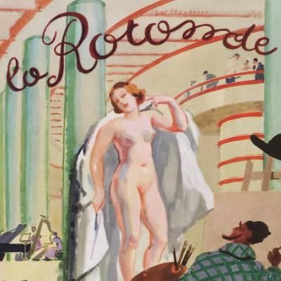 menu brasserie la Rotonde 1930