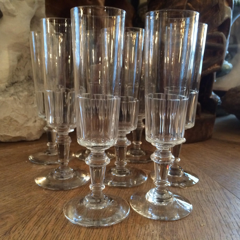 flutes à champagne XIX siècle