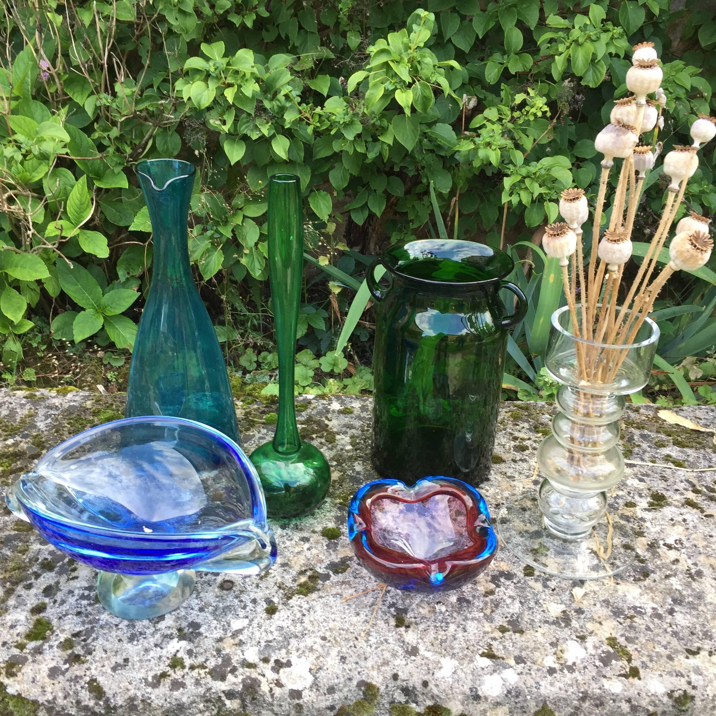 vase en verre ancien
